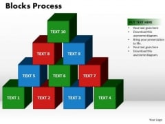 PowerPoint Designs Blocks Process Success Ppt Presentation