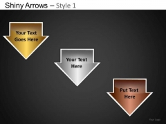 PowerPoint Designs Business Education Shiny Arrows Ppt Templates