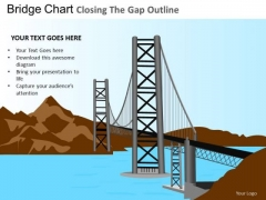 PowerPoint Designs Business Growth Bridge Chart Ppt Slides