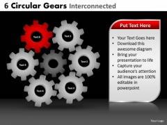 PowerPoint Designs Chart Circular Gears Ppt Theme