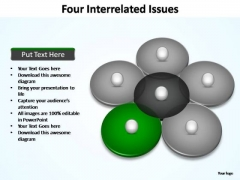 PowerPoint Designs Chart Four Interrelated Ppt Slide