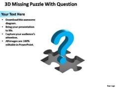 PowerPoint Designs Chart Missing Puzzle Piece Question Ppt Template