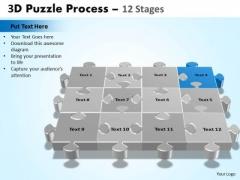 PowerPoint Designs Chart Puzzle Process Ppt Design Slides