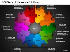 PowerPoint Designs Circle Process Gear Process Ppt Slides