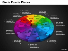 PowerPoint Designs Circle Puzzle Editable Ppt Template
