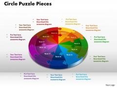 PowerPoint Designs Circle Puzzle Pieces Education Ppt Presentation