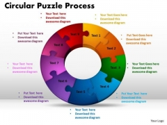 PowerPoint Designs Circular Puzzle Process Sales Ppt Themes