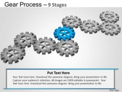 PowerPoint Designs Company Gears Process Ppt Design