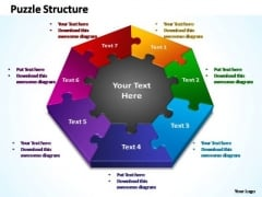 PowerPoint Designs Company Puzzle Structure Ppt Template