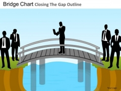 PowerPoint Designs Corporate Teamwork Bridge Chart Ppt Layout