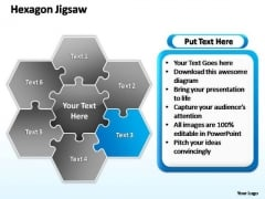 PowerPoint Designs Editable Hexagon Jigsaw Ppt Template