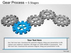 PowerPoint Designs Education Gears Process Ppt Template