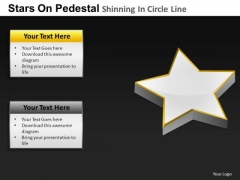 PowerPoint Designs Global Pedestal Shinning Ppt Design