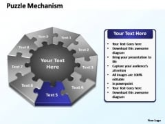 PowerPoint Designs Global Puzzle Mechanism Ppt Themes