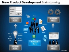 PowerPoint Designs Graphic Development Brainstorming Ppt Themes
