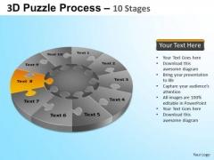 PowerPoint Designs Graphic Puzzle Segment Pie Chart Ppt Presentation