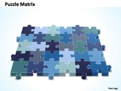 PowerPoint Designs Growth 6x5 Rectangular Jigsaw Puzzle Matrix Ppt Theme