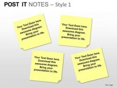 PowerPoint Designs Growth Post It Notes Ppt Slides