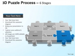 PowerPoint Designs Growth Puzzle Process Ppt Template