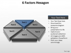 PowerPoint Designs Leadership Factors Hexagon Ppt Templates