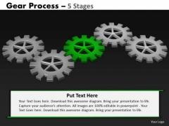 PowerPoint Designs Leadership Gears Process Ppt Slide