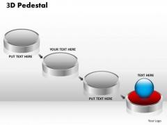 PowerPoint Designs Marketing 3d Pedestal Ppt Process