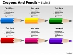 PowerPoint Designs Marketing Crayons And Pencils Ppt Themes
