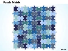 PowerPoint Designs Marketing Puzzle Matrix Ppt Template