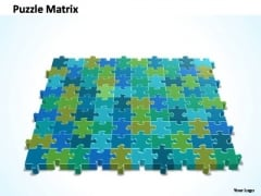 PowerPoint Designs Process 10x9 Rectangular Jigsaw Puzzle Matrix Ppt Slide