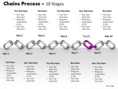PowerPoint Designs Process Chains Ppt Slides