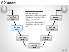 PowerPoint Designs Sales V Diagram Ppt Backgrounds