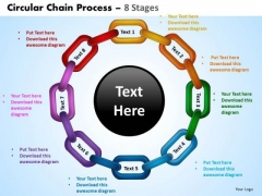 PowerPoint Designs Strategy Circular Chain Ppt Process