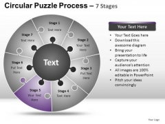 PowerPoint Designs Strategy Circular Puzzle Ppt Template