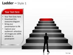 PowerPoint Designs Teamwork Ladder Ppt Layout