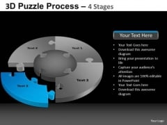 PowerPoint Designs Teamwork Pie Chart Puzzle Process Ppt Process