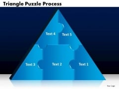 PowerPoint Designs Triangle Puzzle Marketing Ppt Templates