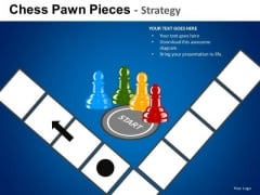 PowerPoint Executive Competition Corporate Leadership Chess Pawn Ppt Designs