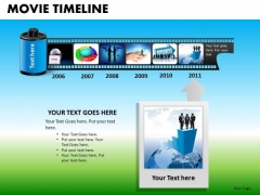 PowerPoint Film Strip Movie Timeline Ppt Slide Designs