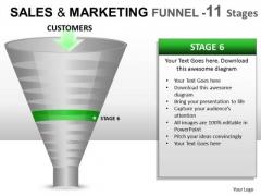 PowerPoint Funnel Chart Diagram For Ppt Slides