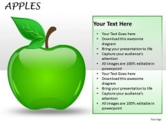 PowerPoint Graphics And Clipart Editable Apple Slides