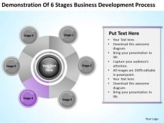 PowerPoint Graphics Business Of 6 Stages Development Process Ppt Templates