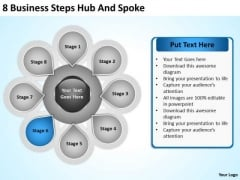 PowerPoint Graphics Business Templates Free Download Steps Hub And Spoke