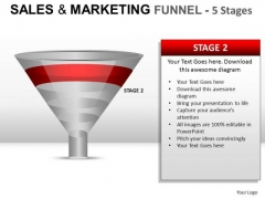 PowerPoint Graphics Sales Marketing Funnel Diagram Ppt Slides