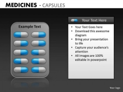 PowerPoint Graphics Slides With Medicines Capules Health Care