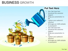 PowerPoint Growing Money Financial Success PowerPoint Templates