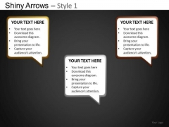 PowerPoint Layout Business Designs Shiny Arrows Ppt Slides