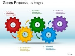 PowerPoint Layout Business Gears Process Ppt Designs