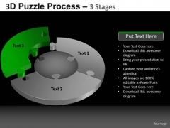 PowerPoint Layout Business Pie Chart Puzzle Process Ppt Process