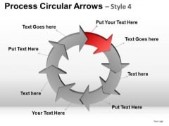 PowerPoint Layout Business Success Process Circular Arrows Ppt Layout