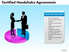 PowerPoint Layout Chart Certified Handshake Ppt Process